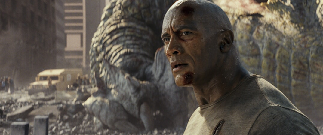"DWAYNE JOHNSON as Davis Okoye in New Line Cinema's and ASAP Entertainment's action adventure ""RAMPAGE,"" a Warner Bros. Pictures release."