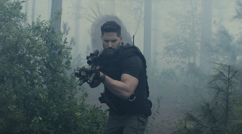 "JOE MANGANIELLO as Burke in New Line Cinema's and ASAP Entertainment's action adventure ""RAMPAGE,"" a Warner Bros. Pictures release."