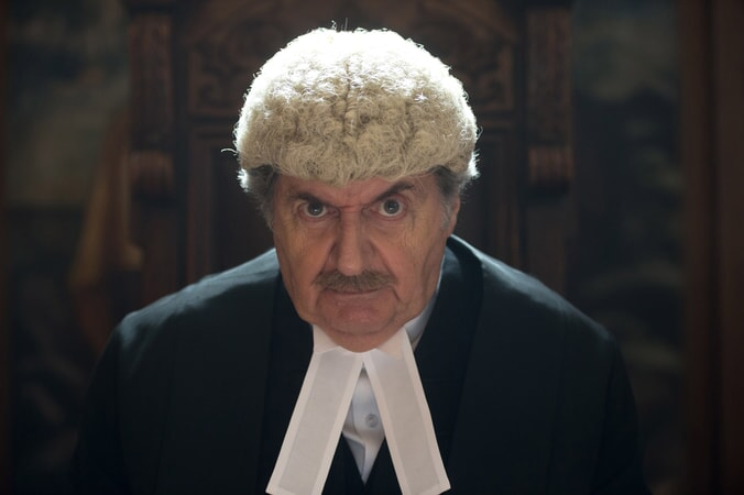 "TOM CONTI as Judge Gerald Biggleswade in the family adventure ""PADDINGTON 2,"" from Warner Bros. Pictures and STUDIOCANAL, in association with Anton Capital Entertainment S.C.A., a Warner Bros. Pictures release."