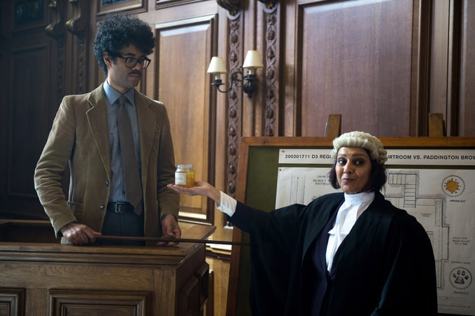 "RICHARD AYOADE as Forensic Investigator and MEERA SYAL as Prosecutor in the family adventure ""PADDINGTON 2,"" from Warner Bros. Pictures and STUDIOCANAL, in association with Anton Capital Entertainment S.C.A., a Warner Bros. Pictures release."