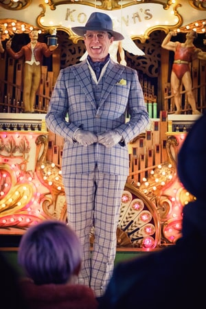 "HUGH GRANT as Phoenix Buchanan in the family adventure ""PADDINGTON 2,"" from Warner Bros. Pictures and STUDIOCANAL, in association with Anton Capital Entertainment S.C.A., a Warner Bros. Pictures release."