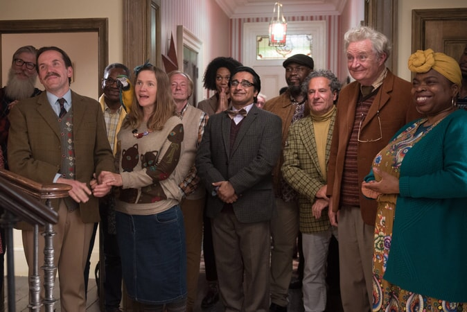 "BEN MILLER as Colonel Lancaster, JESSICA HYNES as Miss Kitts, SANJEEV BHASKAR as Dr. Jafri, JIM BROADBENT as Mr. Gruber and SHOLA ADEWUSI as First Ms. Peters in the family adventure ""PADDINGTON 2,"" from Warner Bros. Pictures and STUDIOCANAL, in association with Anton Capital Entertainment S.C.A., a Warner Bros. Pictures release."