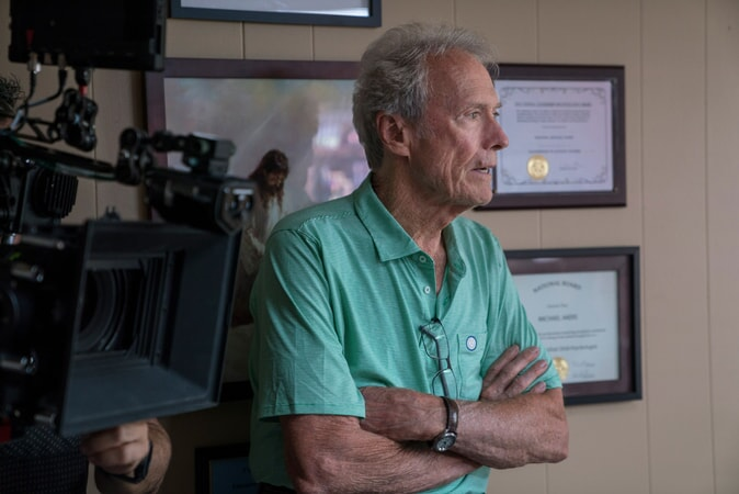 "Director/producer CLINT EASTWOOD on the set of Warner Bros. Pictures' and Village Roadshow Pictures' ""THE 15:17 TO PARIS,"" a Warner Bros. Pictures release."