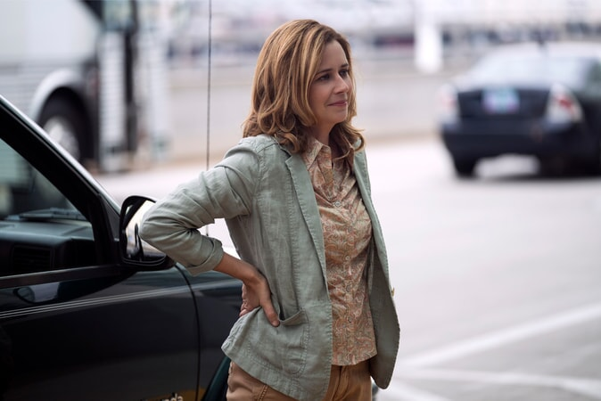 "JENNA FISCHER as Heidi in Warner Bros. Pictures' and Village Roadshow Pictures' ""THE 15:17 TO PARIS,"" a Warner Bros. Pictures release."