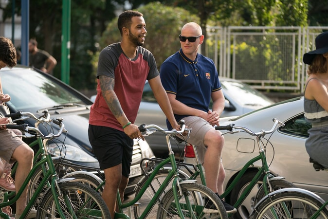 "ANTHONY SADLER as Anthony and SPENCER STONE as Spencer in Warner Bros. Pictures' and Village Roadshow Pictures' ""THE 15:17 TO PARIS,"" a Warner Bros. Pictures release."
