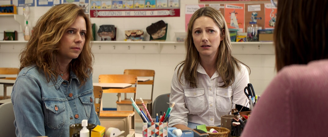 "JENNA FISCHER as Heidi and JUDY GREER as Joyce in Warner Bros. Pictures' and Village Roadshow Pictures' ""THE 15:17 TO PARIS,"" a Warner Bros. Pictures release."