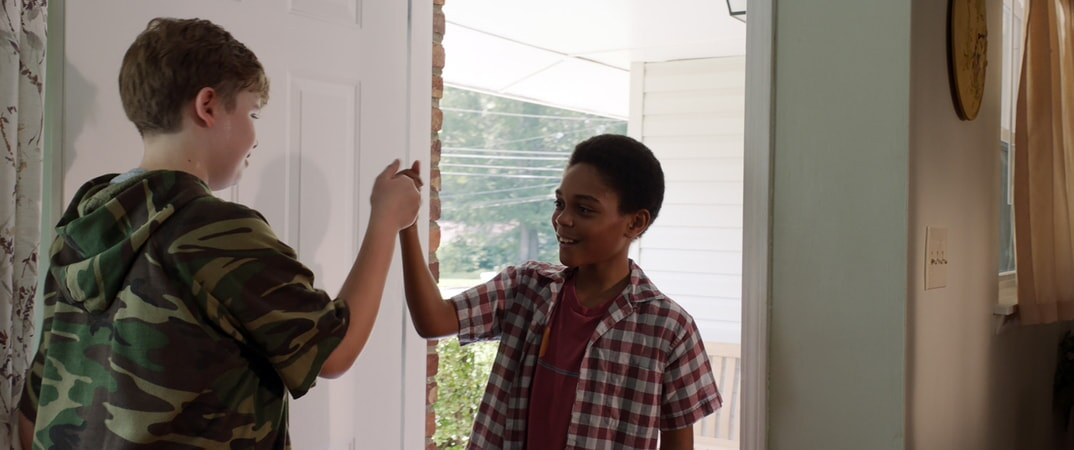 "WILLIAM JENNINGS as Spencer (11-14) and PAUL-MIKÉL WILLIAMS as Anthony (11-14) in Warner Bros. Pictures' and Village Roadshow Pictures' ""THE 15:17 TO PARIS,"" a Warner Bros. Pictures release."