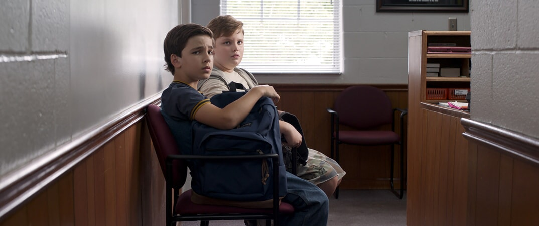 "BRYCE GHEISAR as Alek (11-14) and WILLIAM JENNINGS as Spencer (11-14) in Warner Bros. Pictures' and Village Roadshow Pictures' ""THE 15:17 TO PARIS,"" a Warner Bros. Pictures release."
