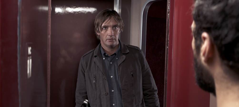 "MATT THOMPSON as Man On Train in Warner Bros. Pictures' and Village Roadshow Pictures' ""THE 15:17 TO PARIS,"" a Warner Bros. Pictures release."