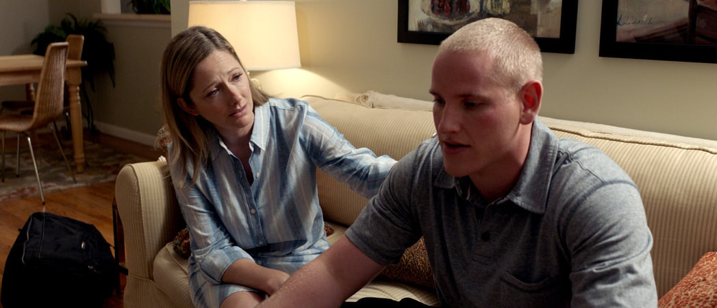 "JUDY GREER as Joyce and SPENCER STONE as Spencer in Warner Bros. Pictures' and Village Roadshow Pictures' ""THE 15:17 TO PARIS,"" a Warner Bros. Pictures release."