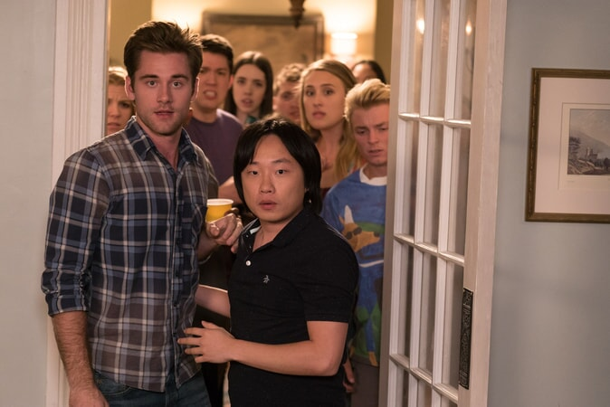 "(L-R) LUKE BENWARD as Jack and JIMMY O. YANG as Tyler in New Line Cinema's comedy ""LIFE OF THE PARTY,"" a Warner Bros. Pictures' release."
