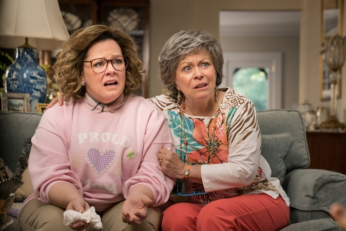 "(L-R) MELISSA McCARTHY as Deanna and JACKI WEAVER as Sandy in New Line Cinema's comedy ""LIFE OF THE PARTY,"" a Warner Bros. Pictures' release."