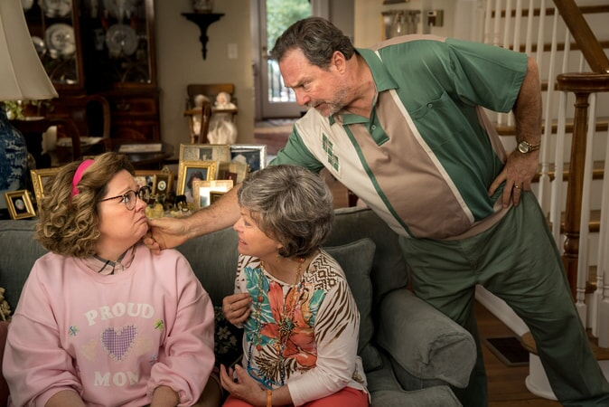 "(L-R) MELISSA McCARTHY as Deanna, JACKI WEAVER as Sandy and STEPHEN ROOT as Mike in New Line Cinema's comedy ""LIFE OF THE PARTY,"" a Warner Bros. Pictures' release."