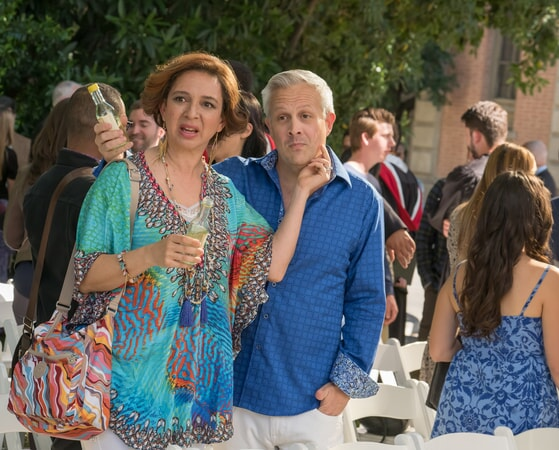 "(L-R) MAYA RUDOLPH as Christine and DAMON JONES as Frank in New Line Cinema's comedy ""LIFE OF THE PARTY,"" a Warner Bros. Pictures' release."
