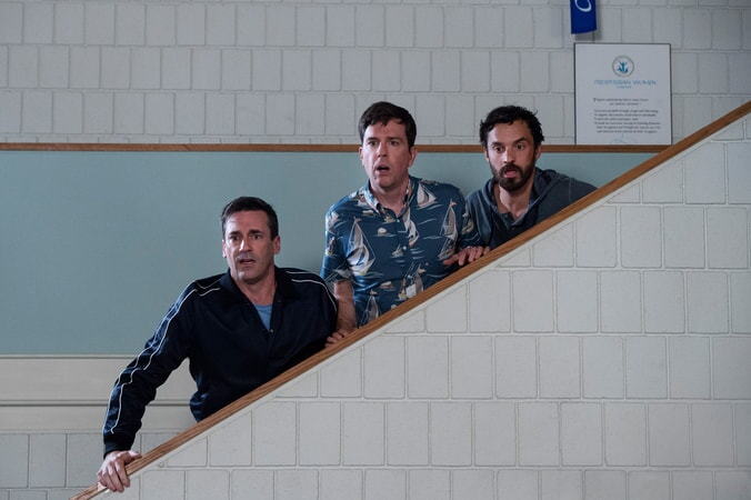 "(L-R) JON HAMM as Callahan, ED HELMS as Hoagie and JAKE JOHNSON as Chilli in New Line Cinema's and Broken Road Productions' comedy ""TAG,"" a Warner Bros. Pictures release."