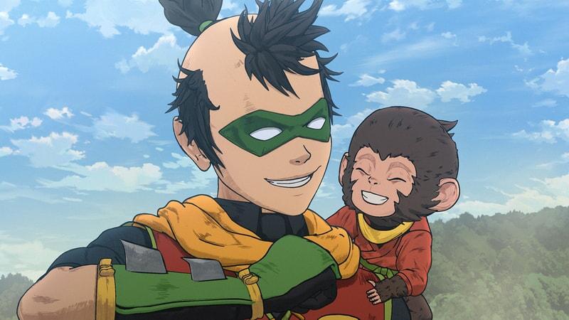 robin with monkey in batman ninja