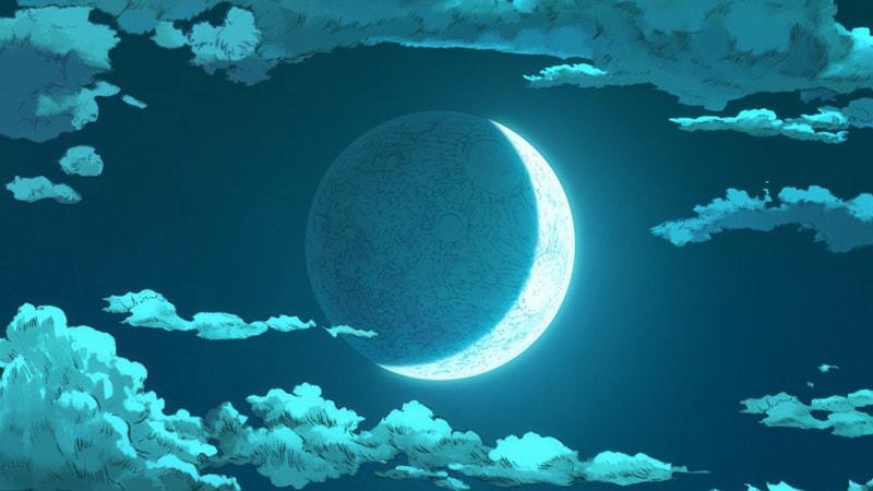 moon in the sky from scene in batman ninja