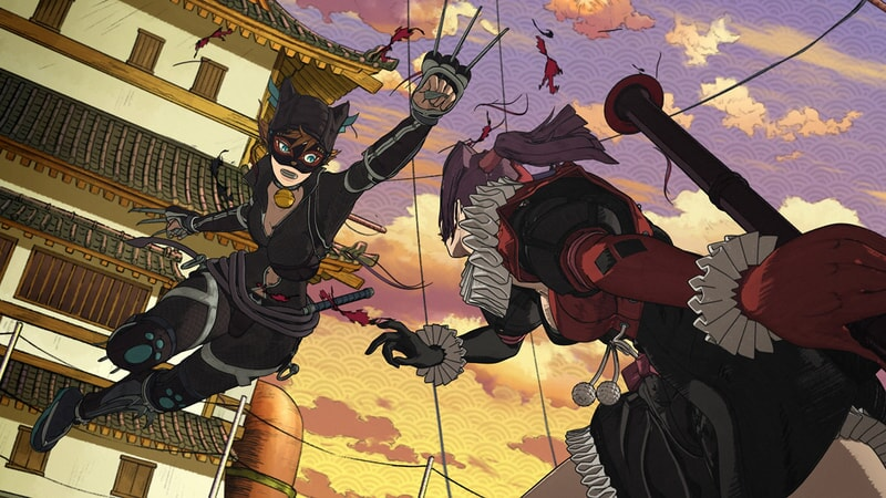 catwoman swings into action in batman ninja