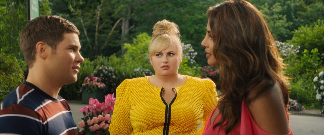 (L-R) ADAM DEVINE as Josh, REBEL WILSON as Natalie and PRIYANKA CHOPRA as Isabella