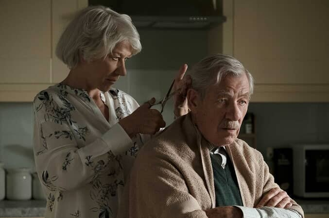 "HELEN MIRREN as Betty McLeish and IAN McKELLEN as Roy Courtnay in New Line Cinema's suspense thriller ""THE GOOD LIAR"""