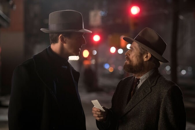 MOTHERLESS BROOKLYN: (L-R) EDWARD NORTON as Lionel Essrog and WILLEM DAFOE as Paul