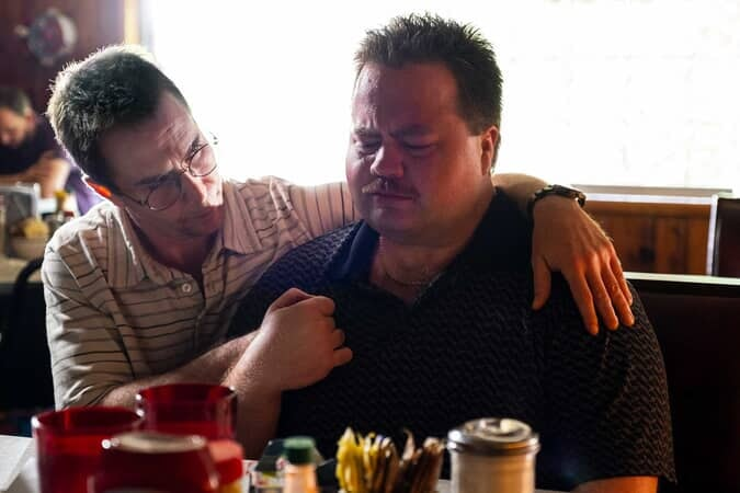 """SAM ROCKWELL as Watson Bryant and PAUL WALTER HAUSER as Richard Jewell in Warner Bros. Pictures' """"RICHARD JEWELL,"""" a Warner Bros. Pictures release."""