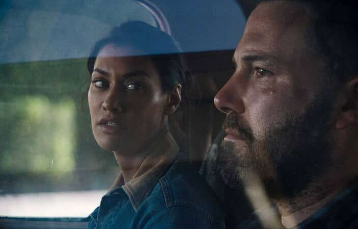 "JANINA GAVANKAR as Angela and BEN AFFLECK as Jack in Warner Bros. Pictures' drama ""THE WAY BACK"""
