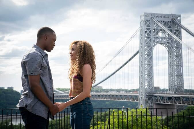 "COREY HAWKINS as Benny and LESLIE GRACE as Nina in Warner Bros. Pictures' ""IN THE HEIGHTS."""