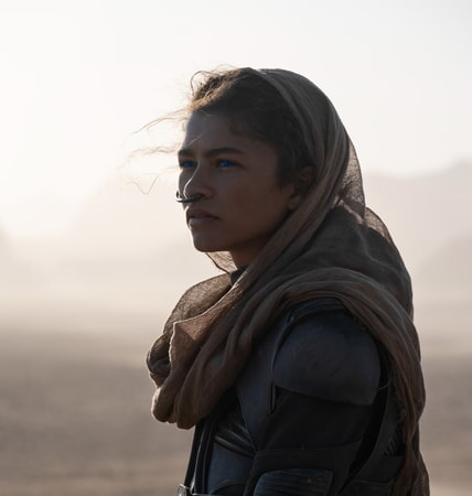 "ZENDAYA as Chani in Warner Bros. Pictures and Legendary Pictures' action adventure ""DUNE."""
