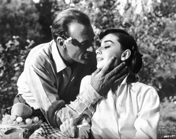 gary cooper and audrey hepburn star in love in the afternoon