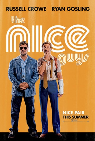 The Nice Guys poster 1 - Russell Crowe and Ryan Gosling