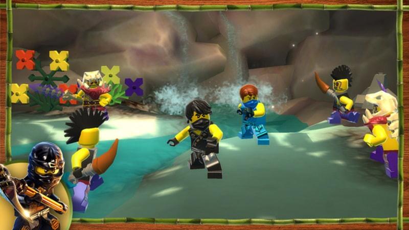 LEGO Ninjago: Shadow of Ronin screenshot with waterfall