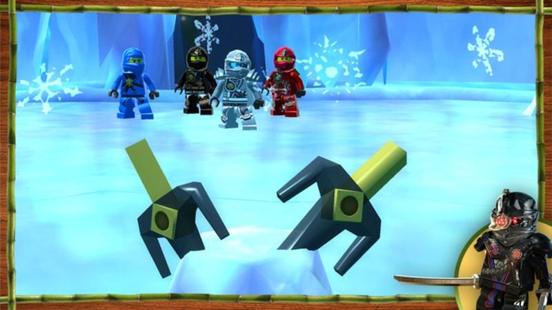LEGO Ninjago: Shadow of Ronin screenshot of ninjas on ice