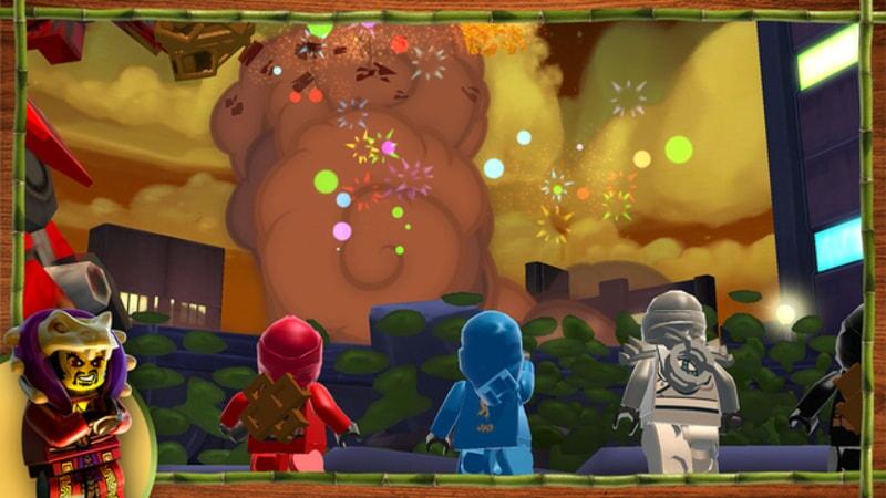 LEGO Ninjago: Shadow of Ronin screenshot of explosion