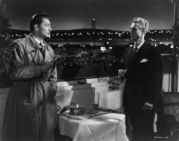 robert mitchum and ken niles in out of the past available now on blu-ray, dvd and digital