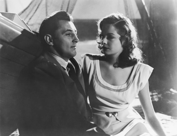 robert mitchum and jane greer in out of the past available now on blu-ray, dvd and digital