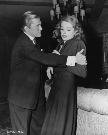kirk douglas and jane greer in out of the past available now on blu-ray, dvd and digital