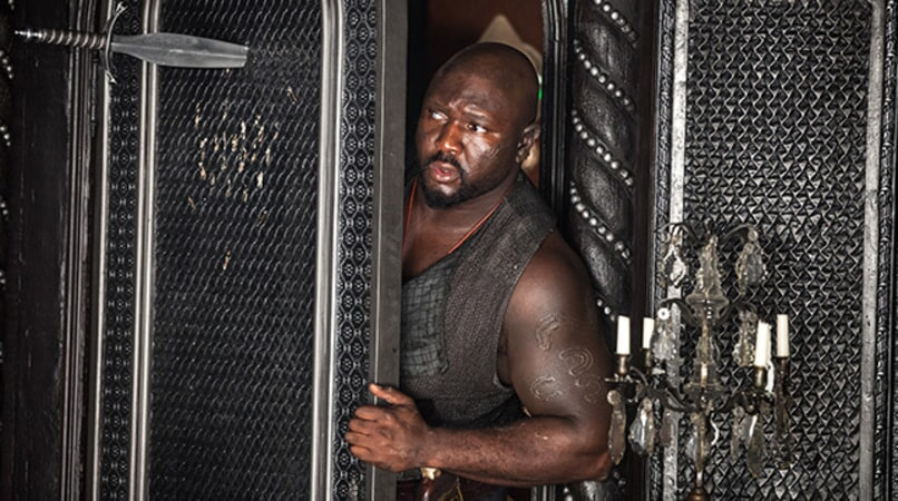 "NONSO ANOZIE as Bishop in Warner Bros. Pictures' and RatPac-Dune Entertainment's action adventure ""PAN,"" a Warner Bros. Pictures release."