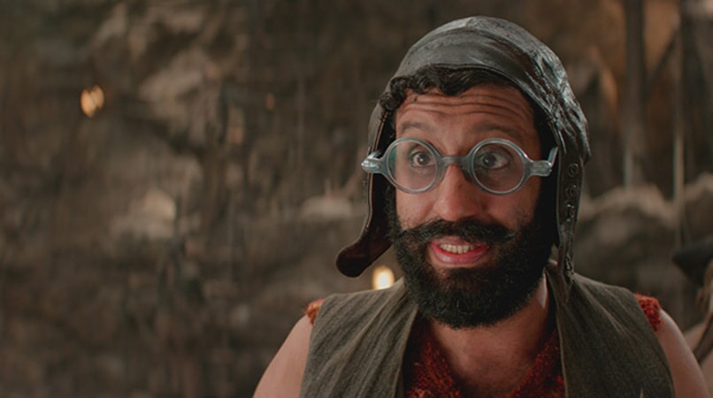 "ADEEL AKHTAR as Sam Smiegel in Warner Bros. Pictures' and RatPac-Dune Entertainment's action adventure ""PAN,"" a Warner Bros. Pictures release."