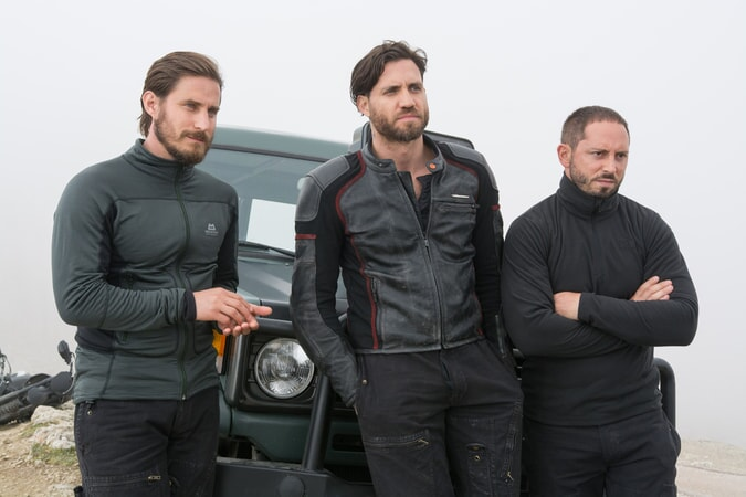 "CLEMENS SCHICK as Roach, EDGAR RAMIREZ as Bodhi and MATIAS VARELA as Grommet in Alcon Entertainment's action thriller ""POINT BREAK,"" a Warner Bros. Pictures release."