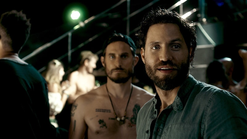 "CLEMENS SCHICK as Roach and EDGAR RAMIREZ as Bodhi in Alcon Entertainment's action thriller ""POINT BREAK,"" a Warner Bros. Pictures release."
