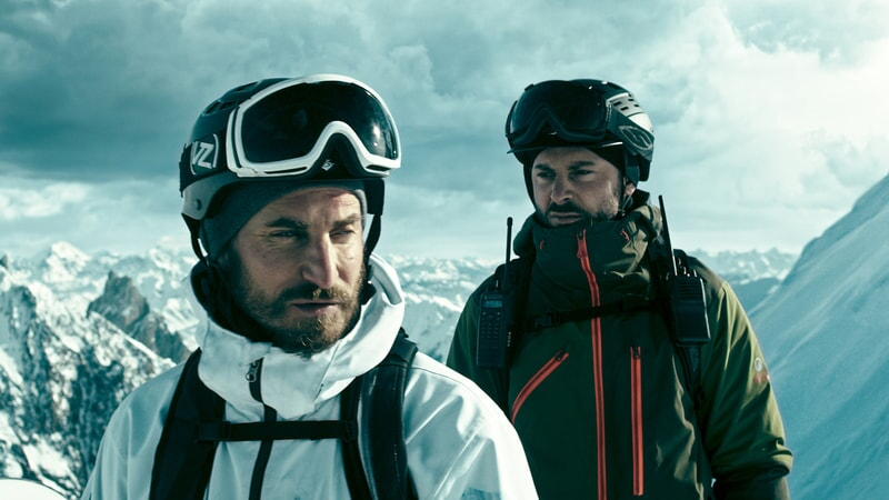 "CLEMENS SCHICK as Roach and MATIAS VARELA as Grommet in Alcon Entertainment's action thriller ""POINT BREAK,"" a Warner Bros. Pictures release."