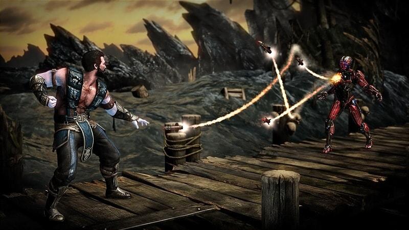 Mortal Kombat XL: players on a bridge