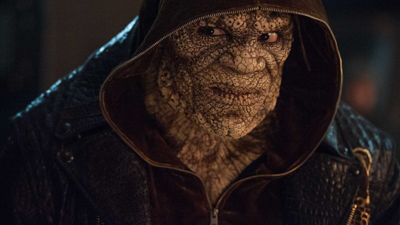 Closeup of Adewale Akinnuoye-Agbaje as Killer Croc