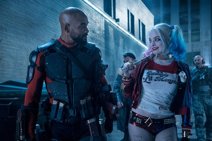 WILL SMITH as Deadshot and MARGOT ROBBIE as Harley Quinn