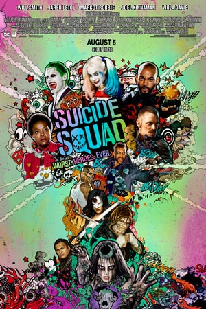 Suicide Squad Poster - characters situated in shape of atomic bomb