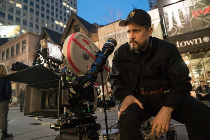 "Writer/director DAVID AYER on the set of Warner Bros. Pictures' action adventure ""SUICIDE SQUAD"""
