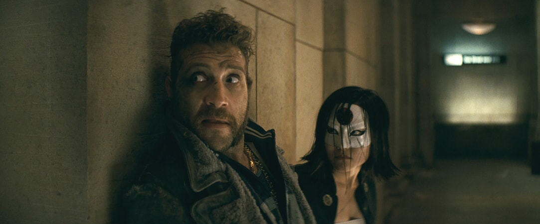 JAI COURTNEY as Boomerang and KAREN FUKUHARA as Katana