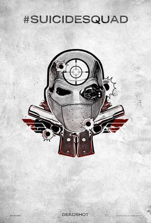 Suicide Squad tattoo poster: Deadshot