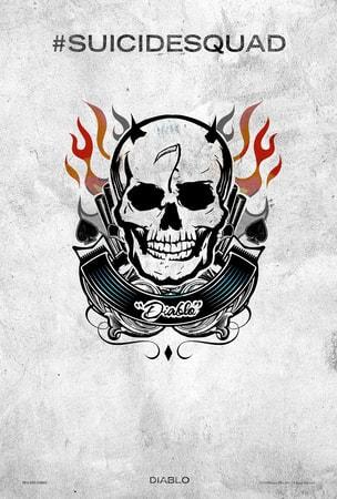 Suicide Squad tattoo poster: Diablo
